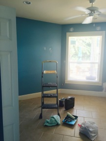 blue walls bedroom before painting