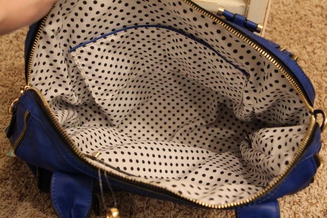 elisha zipper accent structured satchel lining