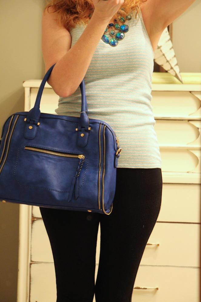 elisha zipper accent structured satchel