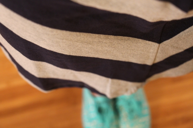 chevron skirt with shoes