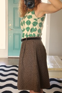 modcloth mentor of attention skirt