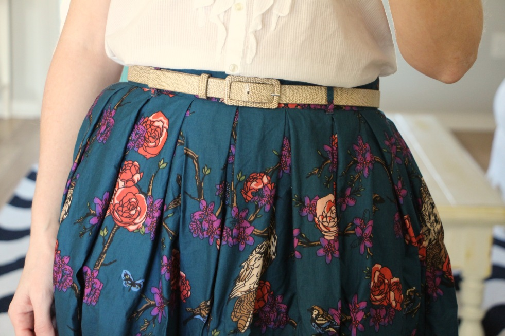 modcloth light and aviary skirt